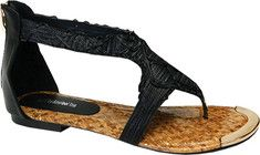 Shimmer and shine!  The Raleigh by BFT is an extremely detailed woven thong sandal with thick stylish straps giving you a fashionable secure fit.