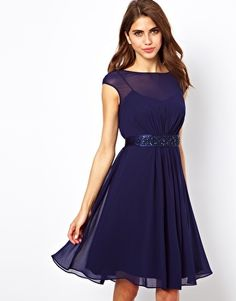 Coast Lori Lee Short Dress with Embellished Belt
