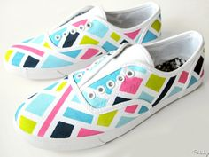 Painted Stained Glass Sneakers