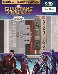 Guardians of the Galaxy 3D SteelBook (Blu-ray 3D / Blu-ray / Digital HD) @ niftywarehouse.com #NiftyWarehouse #GuardiansOfTheGalaxy #Marvel #Movies #ComicBooks #Comics #MarvelMovies