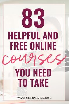 Ready to uplevel your skills?! Here's 83 helpful and free online courses you need to take. // Miranda Nahmias & Co.  Systematic #Marketing for Female Online Service Providers -- #entrepreneur Free Education, How To Start A Blog, Free Classes Online, Free College Courses Online, Online College, Online Courses, Online Jobs, Business Entrepreneur, Business Marketing