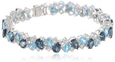 "Sterling Silver Blue and White Topaz Bracelet, 7.25"" Amazon Curated Collection,http://www.amazon.com/dp/B00CCYXWQQ/ref=cm_sw_r_pi_dp_8Njqsb0Y2S3VJMXC"