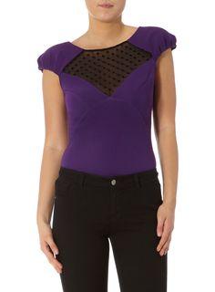 Kardashian purple mesh top   #DPKK