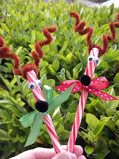 Candy Cane Reindeer - cute for classmates.