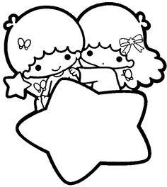 36 best hello kitty coloring pictures images on pinterest for Little twin stars coloring pages