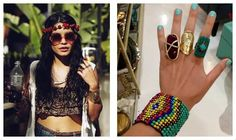 Love the hippie chic look (à la Vanessa Hudgens)? Come create it at Style Shack. #boho #hippie #chic #jewelry