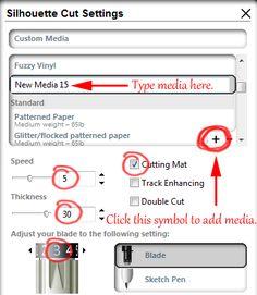 Silhouette Studio Tutorial: Adding Custom Media Settings