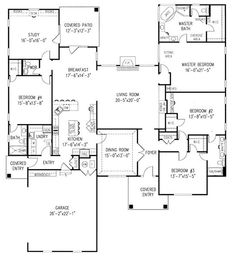 Master Bedroom Extension Ideas plan sc-2081: ($750) 4 bedroom 2 bath home with a study. the home