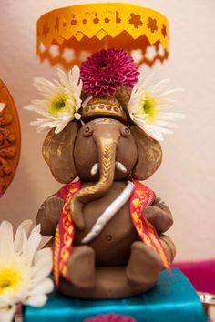 DIY - Making of Lord Ganesha at Home: 11 Steps (with Pictures) Lord Ganesha, Clay Ganesha, Jai Ganesh, Shree Ganesh, Lord Krishna, Lord Shiva, Diwali Decorations, Festival Decorations, Room Decorations