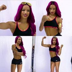 Sasha Banks Photoshoot For Muscle & Fitness Magazine
