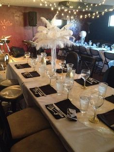 Great Gatsby table setting