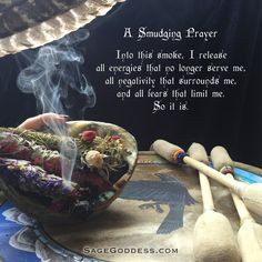 A #smudging prayer to clear your digital space. Learn more about this ancient tradition: Smudging 101: How to Clear Your Space