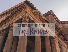 As a first time traveller, it's easy to get caught up in the grandeur of a new city and rush in head first. With these 23 mistakes to avoid in Rome, Italy, you'll be a seasoned traveller before you even land in the airport Rome Travel, Italy Travel, Italy Vacation, 3 Days In Rome, Italy Coffee, Rome Attractions, Romulus And Remus, Stuff To Do, Things To Do