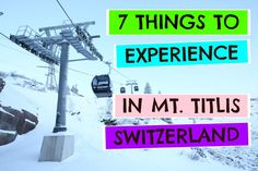 things to do in mount titlis switzerland - The 'Cliff Walk' is free once you have paid for the return cable car journey from Engelberg (CHF89 or $AUD112). If you are planning to ski, the cable car ticket also gives you access to all the lifts on the mountain.