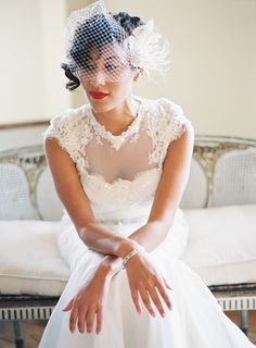 Munaluchi Bride's FW14 Cover Bride Jasmine Irons-Anokute. This custom wedding gown was made by her cousin Kidan Brooks. Headpiece by Bride Eyed Birde. Photo by Kurt Boomer
