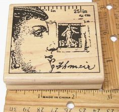 PROFILE COLLAGE  MEASUREMENT POSTAGE STAMP WRITING BY STAMPINGTON Rubber Stamp   #StampingtonCo #regular