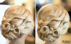 Pin curl- maybe for wedding or prom