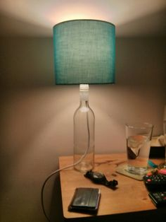 Wine bottle table lamp