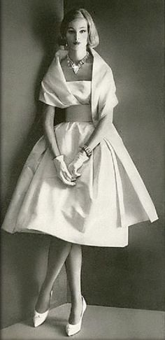 Dress by Pierre Cardin, photo by Henry Clarke for Vogue, 1960.