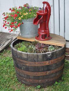 Thrilling About Container Gardening Ideas. Amazing All About Container Gardening Ideas. Garden Yard Ideas, Garden Crafts, Diy Garden Decor, Lawn And Garden, Garden Projects, Garden Planters, Fence Garden, Outdoor Garden Decor, Garden Junk