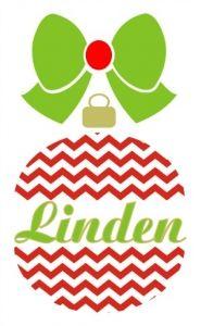 Chevron Split Christmas Ornament SVG