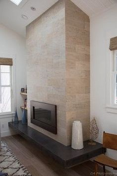So What is a Fireplace Insert? - Fireplace Tip[s & Tricks - Fireplace Fronts, Slate Fireplace, Home Fireplace, Fireplace Remodel, Modern Fireplace, Living Room With Fireplace, Fireplace Surrounds, Fireplace Ideas, Contemporary Fireplace Designs
