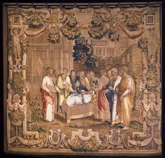 Dormition of the Virgin  1561-62  Tapestry, wool and silk, 423 x 470 cm  Como, Cathedral