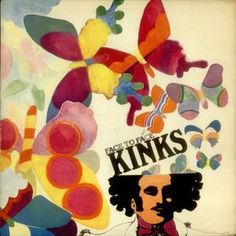 Classic rock concert psychedelic poster - Kinks released on October 28, 1966