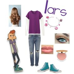 Lars from Steven Universe by zamantha-palazuelos on Polyvore featuring polyvore, fashion, style, Uniqlo, Whistles, Converse, Dolci Gioie and Isaac Mizrahi