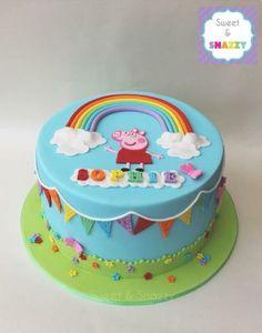 Mia's bday cake... Sheet cake....Sept 13...peppa pig... @mishah @josh Williams