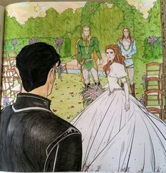 The Wedding Guest. ACOTAR coloring book ~ by CLPN
