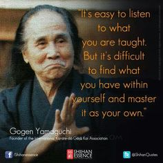 Martial arts pearls of wisdom