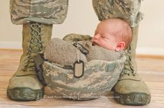My grand baby Libby Q. Lil Air Force baby!