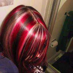 Hair Color Streaks, Hair Dye Colors, Emo Hair Color, Hair Inspo, Hair Inspiration, 90s Grunge Hair, Grunge Goth, Aesthetic Hair, Dye My Hair