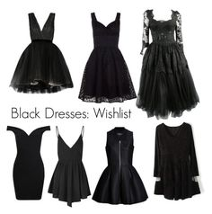 """Black Dresses"" by alyinwonderlust773 ❤ liked on Polyvore featuring Alice + Olivia, Glamorous, Miss Selfridge, Voodoo Vixen, women's clothing, women, female, woman, misses and juniors"