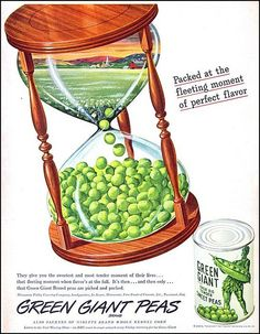 What happens when the peas run out? :) #vintage #food #ad #1950s