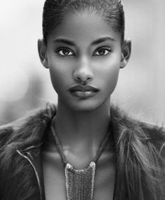 Black Model. naturally beautiful face