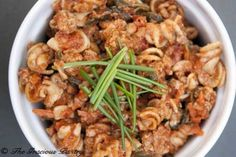 Clean Eating Superfood Rotini gives you all the nutrients of delicious superfoods while giving you the amazing flavor of a fabulous bowl of pasta! From TheGraciousPantry.com.