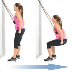 Amazing Repel Squat With Resistance Bands