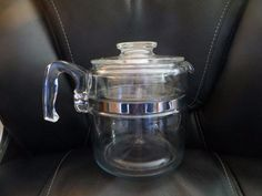Vintage Pyrex Flame Wear Coffee Pot 6 Cup 7756  by HolySerendipity