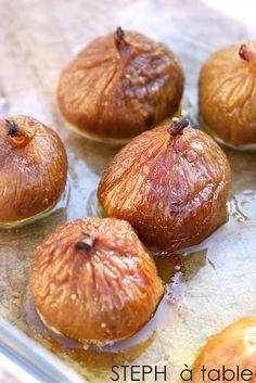 Figues pochees au montbazillac, coeur de foie gras