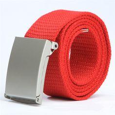18 color New Women's Men canvas belt Candy colors Ladies fashion tide Weaving trousers belt Student belt Military cinto feminino