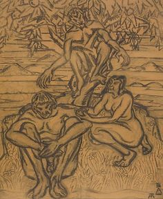 File:Tibor Boromisza - Garden of Eden 91x75 graphite on paper 1908.jpg