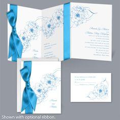 Dreamy Roses - Cornflower - Invitation