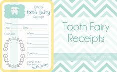 FREE Printable Tooth Fairy Receipts – Several to Choose From