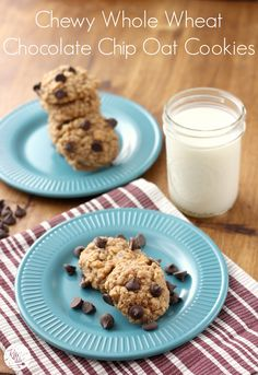 Chewy Whole Wheat Chocolate Chip Oatmeal Cookies L Www A Kitchen Addiction