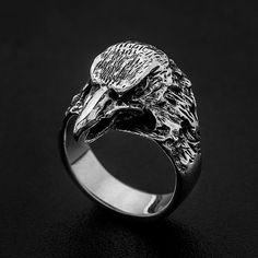 Sterling Silver Eagle Ring-Viking Eagle by MrSmithJewelry on Etsy