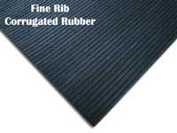 Corrugated Rubber Fine Rib Mats and Rubber Runners are great lightweight safety mats.  They work well to reduce accidents throughout wet seasons.