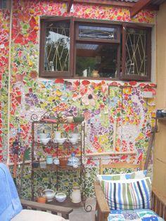 Love Helen Brain's mosaic wall!