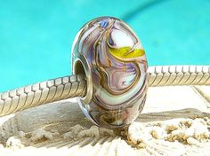 PLUM LOVE Fully Lined Sterling Silver Big Hole by beachlifebeads, $23.00